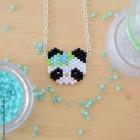 """lpl - Collier """"Zanimo"""" Le Panda - Menthe bleu"""