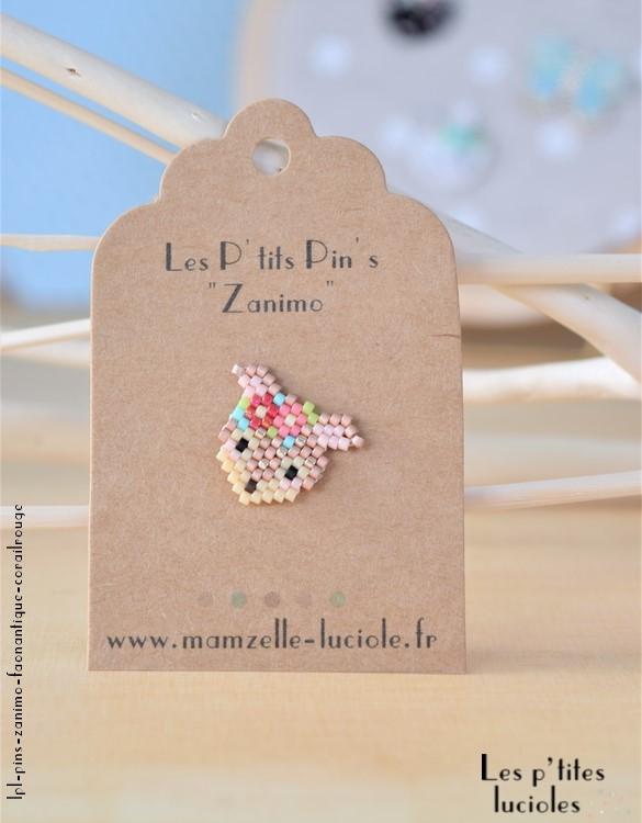 "lpl - Pin's ""Zanimo"" Le Faon Antique - Fluo corail-rouge"