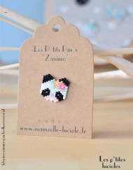"lpl - Pin's ""Zanimo"" Le Panda - Fluo Rose-corail"