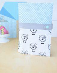 """Lpl - Protège-carnet de santé - Les Designers """"Les ours chics"""" Menthe-gris"""