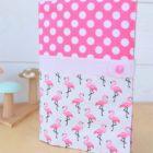 """Lpl - Protège-carnet de santé - Les Designers """"P'tits Flamants roses"""" Rose-poudre"""