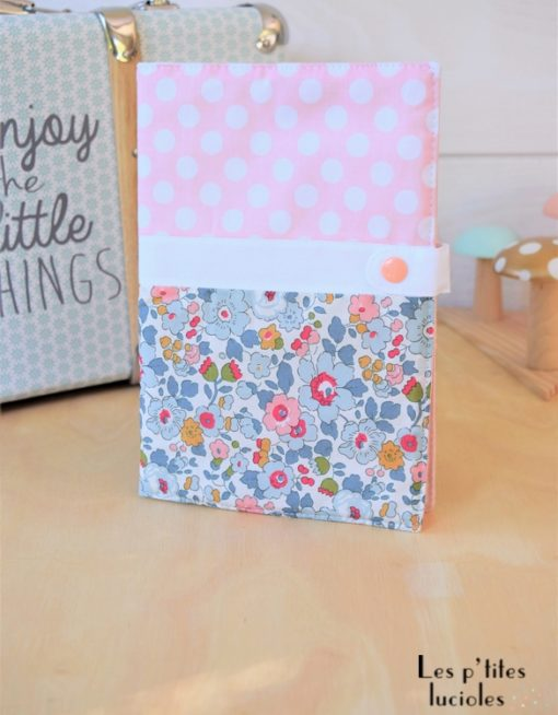 """Lpl - Protège-carnet de santé - Les Chics """"Betsy pastel"""" Poudre-blanc"""