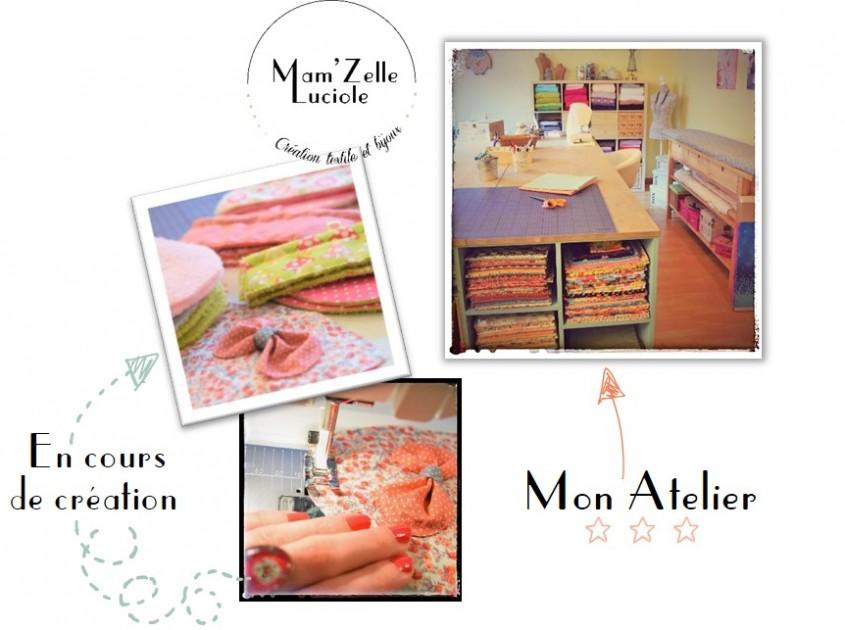 L'atelier de Mam'Zelle Luciole du site mamzelle-luciole.fr