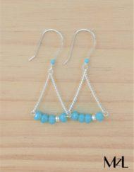"""MzL - Boucles d'oreilles """"Lily"""" Turquoise"""