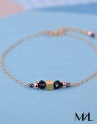 "MzL - Bracelet ""Jules"" Or 14 Carats - Perles"
