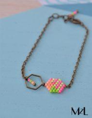 "MzL - Bracelet ""Malya"" Plat"