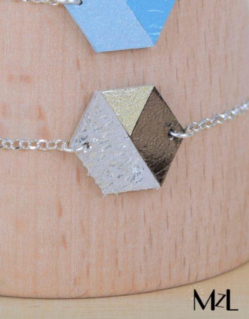 """MzL - Bracelet """"Marius"""" Beige-bronze"""