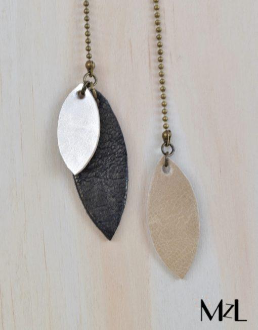 "MzL - Sautoir ""Jeannette"" Bronze - Beige"